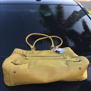 NWTag Mossimo Studded Mustard Purse. Edgy Satchel